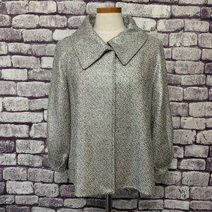 Lafayette 148 Gray & Silver Jacket Size 14